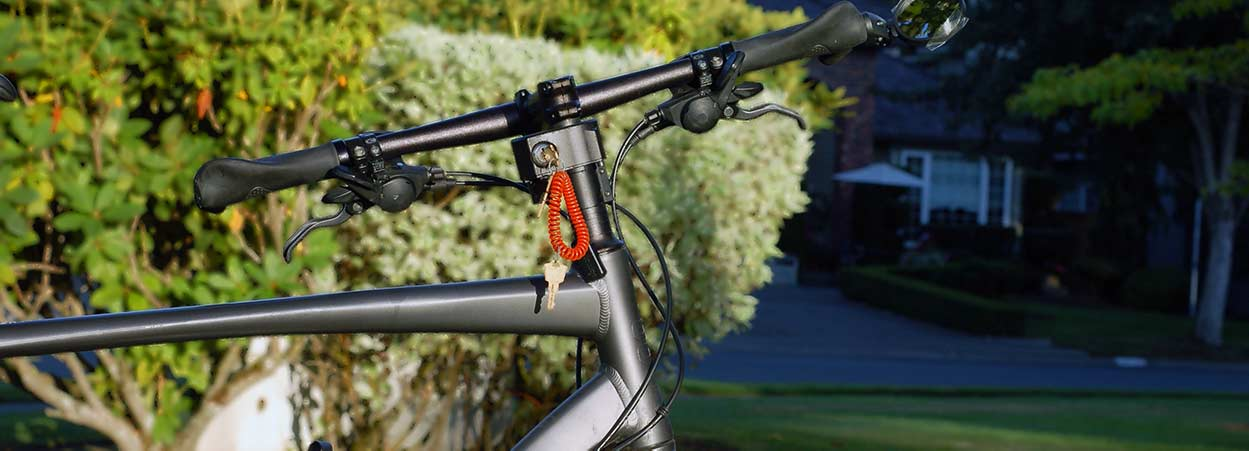 lightweight bike lock turned